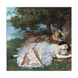 Young Ladies on the Bank of the Seine Giclee Print