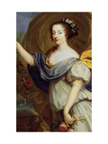Portrait of Duchess De La Valliere as Flora, 17th Century Giclee Print by Pierre Mignard