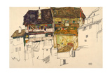 Old Houses in Krumau, 1914 Giclee Print by Egon Schiele