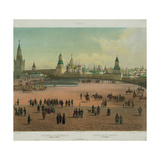 The Basil Cathedral at the Red Square in Moscow, Ca 1848 Giclee Print by Philippe Benoist