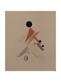 Globetrotter. Figurine for the Opera Victory over the Sun by A. Kruchenykh, 1920-1921 Giclee Print by El Lissitzky