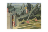 Saint John the Baptist Retiring to the Desert (Predella Pane), 1454 Giclee Print by Giovanni di Paolo