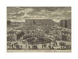 View of Versailles, Garden Facade, 1680S Giclee Print by Adam Pérelle