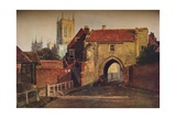 Potter Gate, Lincoln, (1800-184), 1937 Giclee Print by Peter De Wint