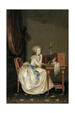 Portrait of Marie Louise of Savoy (1749-179), Princess of Lamballe Giclée-tryk af Anton Hickel