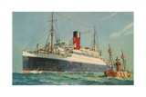 Ascania, Cunard White Star, 1920S Giclee Print
