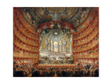 Musical Feast Given by the Cardinal De La Rochefoucauld in the Teatro Argentina in Rome in 1747 Giclee Print by Giovanni Paolo Panini