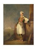 Portrait of the Poet Lord George Noel Byron (1788-182), 1830 Giclée-tryk