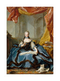 Princess Marie Adélaïde of France (1732-180) Giclee Print by Jean-Marc Nattier