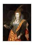 Portrait of Elizabeth I of England, in Ballet Costume as Iris Reproduction procédé giclée par George Peter Alexander Healy
