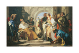The Patron Saints of the Crotta Family Giclee Print by Giambattista Tiepolo