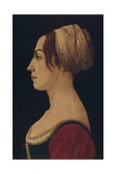 Woman in Green and Crimson, 15th Century Giclee Print by Piero Del Pollaiolo