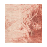 Diana Bathing, C. 1716 Giclée-tryk af Jean Antoine Watteau