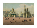 The Cathedral Square in the Moscow Kremlin, Ca 1848 Giclee Print by Philippe Benoist