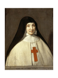 Portrait of Angélique Arnauld (1591-166), Abbess of the Abbey of Port-Royal Giclee Print by Philippe De Champaigne
