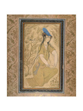 Girl in a Fur Hat, 1602 Giclee Print by Riza-i Abbasi