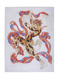 Vaslav Nijinsky in the Ballet the Afternoon of a Faun by C. Debussy Giclee Print by Léon Bakst