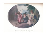 Children Playing at Whip-Top, 1910 Giclee Print by William Hamilton