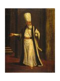 A Janissary Aga, 1737 Giclee Print by Jean-Baptiste Vanmour