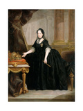 Portrait of Empress Maria Theresia of Austria (1717-178) Giclée-tryk af Anton von Maron
