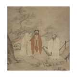 Sakyamuni, Laozi and Confucius, Between 1368 and 1644 Giclee Print