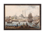The Yeni Cami and the Port of Istanbul, Second Half of the 18th C Giclee Print by Jean-Baptiste Hilair