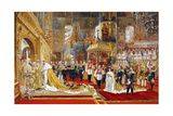 Coronation of Empreror Alexander III and Empress Maria Fyodorovna, 1883-1888 Giclee Print by Georges Becker