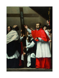 The Exaltation of the Holy Nail with Saint Charles Borromeo Giclee Print by Carlo Saraceni