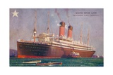 Twin-Screw RMS Adriatic of the White Star Line, C1907 Giclee Print