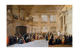 Louis XIV Receiving the Oath of the Marquis De Dangeau Giclee Print by Antoine Pezey