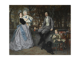 Portrait of the Marquis and Marchioness of Miramon and their Children, 1865 Giclee Print by James Jacques Joseph Tissot