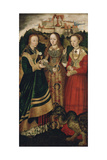 Altarpiece with the Martyrdom of Saint Catharine, Right Wing Giclee Print by Lucas Cranach the Elder