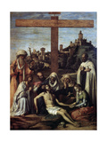 The Lamentation over Christ with a Carmelite Monk, C1510 Giclee Print by Giovanni Battista Cima Da Conegliano