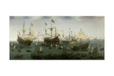 The Return to Amsterdam of the Second Expedition to the East Indies, 19 July 1599 Giclée-Druck von Hendrick Cornelisz. Vroom