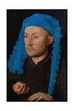 Portrait of a Man with a Blue Chaperon (Man with Rin) Giclee Print by  Jan van Eyck