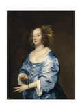 Portrait of Mary (Née Ruthve), Lady Van Dyck Giclee Print by Anthonis van Dyck