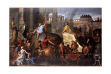 Alexander Entering Babylon (The Triumph of Alexander the Grea) Giclee Print by Charles Le Brun