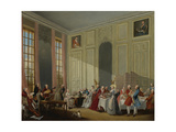 Mozart Giving a Concert in the Salon Des Quatre-Glaces at the Palais Du Temple Giclee Print by Michel Barthélemy Ollivier