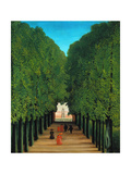 The Avenue in the Park at Saint Cloud Giclee Print by Henri Rousseau