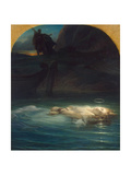 Christian Martyr Drowned in the Tiber During the Reign of Diocletian, 1853 Giclee Print by Paul Hippolyte Delaroche