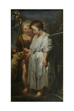Christ and John the Baptist as Children Giclee Print by Pieter Paul Rubens
