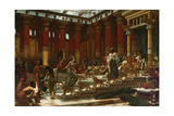 The Visit of the Queen of Sheba to King Solomon, 1890 Giclée-tryk af Edward John Poynter