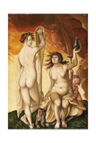 Two Witches Giclee Print by Hans Baldung