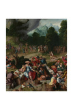Triptych with the Adoration of the Golden Calf Giclee Print by Lucas van Leyden