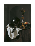Still Life with Glass of Wine and Pewter Jug Giclee Print by Jan Jansz Treck