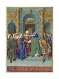 The Marriage of Mary and Joseph (Hours of Étienne Chevalie) Giclee Print by Jean Fouquet