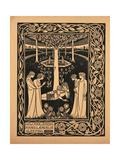 How Four Queens Found Lancelot Sleeping Giclee Print by Aubrey Beardsley