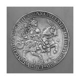 Emperor Maximilian I on Horseback. Thaler Coin from Hall Giclee Print