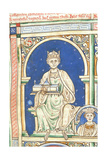 Henry II of England (From the Historia Anglorum, Chronica Major) Giclee Print by Matthew Paris