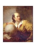Portrait of Jérôme Lalande (1732-180) Reproduction procédé giclée par Jean-Honoré Fragonard